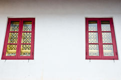 Twin Thai Church Windows Royalty Free Stock Photo