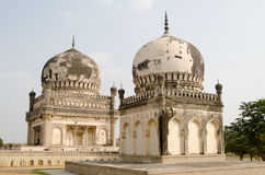 Courtesans' tombs, Hyderabad. Twin tombs of Premamati and Taramati, the favourite courtesans of Sultan Abdullah Shah.  Part of the historic Qutb Shahi tomb Stock Photo
