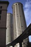 Twin Tower Stockfotos