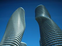 Twin tower apartments Royalty Free Stock Photography