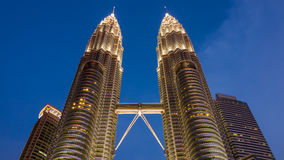 Twin tower background Stock Photography