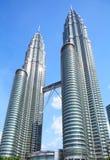 Twin tower building in Kuala Lumpur. City Stock Photo