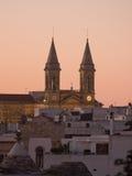 Twin Tower of church Alberobello Stock Image