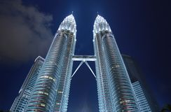 Twin tower of KL. Petronas the twin tower of KL Stock Images