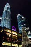 Twin Tower, KLCC, Night Scene, Kuala Lumpur Malaysia Stock Image