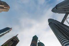Twin Tower in Kuala Lumpur Stockfotos