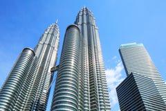 Twin tower in Kuala Lumpur Royalty Free Stock Image