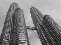 Twin tower in kuala lumpur. Looking up Twin tower in kuala lumpur malaysia Royalty Free Stock Photos