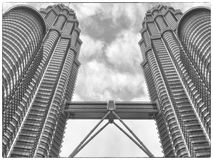 Twin tower in kuala lumpur. Looking up Twin tower in kuala lumpur malaysia Stock Photo