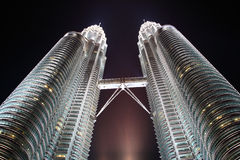 Twin tower Malaysia. Twin tower in Malasia night scene Royalty Free Stock Photos