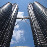 Twin Tower in Malaysia Royalty Free Stock Image