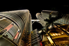 Twin Tower, Malaysia01. 05-06-2010_wide angle view of Twin Tower, Malaysia image Royalty Free Stock Photo