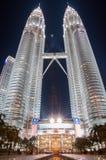Twin Tower. Night Twin Tower, Kuala Lumpur, Malaysia Royalty Free Stock Photography