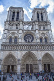 Twin Tower of Norte Dame Paris France Stock Image