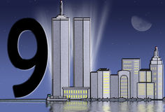 Twin Tower tribute Stock Photos