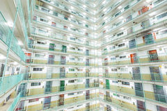 Twin tower type building in Hong Kong Royalty Free Stock Images