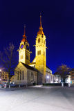 The Twin-towered town church in Winterthur Stock Photos