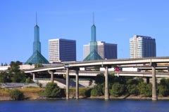 Twin TowerMessegelaende, Portland ODER. Stockbilder