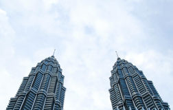 Twin towers royalty free stock photo