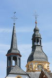 Twin Towers. With two church steeples and blue sky Royalty Free Stock Image