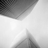 Twin Towers. World Trade Center New York City; On Agfa Apx 100 taken with 6x6 Yashica D in January 2000
