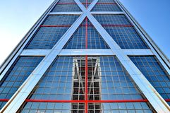 Twin towers. Reflecting in each other Royalty Free Stock Images