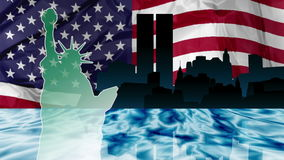 Twin Towers Attack stock footage