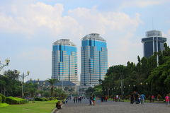 The twin towers of Bank Indonesia Stock Photos