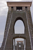 Twin towers of Brunel's Clifton suspension bridge Stock Photography