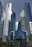 Twin Towers from Paris. Twin Towers from the business center of Paris, there are banking offices Stock Photo