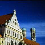 The twin towers of the Church of our Lady Frauenkirche in Munich, Germany royalty free stock images