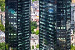 Twin towers of Deutsche Bank in Frankfurt, Germany Royalty Free Stock Image