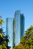 Twin towers Deutsche Bank I and II in Frankfurt am Main Royalty Free Stock Photos