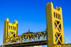 Twin Towers On Golden Bridge royalty free stock photo