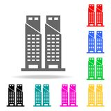 twin towers icon. Elements in multi colored icons for mobile concept and web apps. Icons for website design and development, app d vector illustration