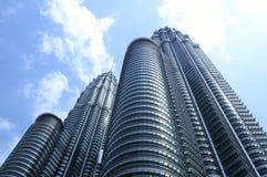Twin Towers in Kuala Lumpur Stock Photos