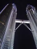 Twin Towers Kuala Lumpur. Night view on kuala lumpur twins Stock Images