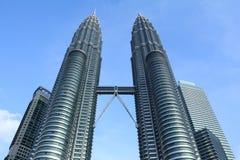 Twin towers in kuala lumpur Stock Photography