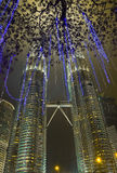 Twin towers at Kuala Lumpur (Malaysia) Royalty Free Stock Photo