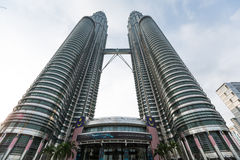 Twin Towers in Kuala Lumpur Royalty Free Stock Photo