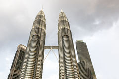 Twin Towers of Kuala Lumpur Royalty Free Stock Images