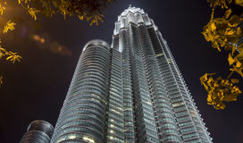 Twin Towers of Kuala Lumpur Stock Images