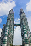 Twin towers at Kuala Lumpur (Malaysia) Royalty Free Stock Photos