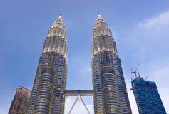 Twin towers at Kuala Lumpur (Malaysia) Stock Images