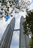 Twin towers at Kuala Lumpur (Malaysia) Royalty Free Stock Photography