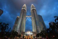 Twin Towers  in Kuala Lumpur, Malaysia Royalty Free Stock Images