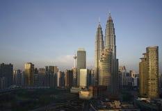 Twin towers in Kuala Lumpur, Malaysia stock images