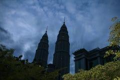 Twin towers in Kuala Lumpur, malaysia Royalty Free Stock Photo