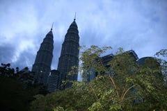 Twin towers in Kuala Lumpur, malaysia Royalty Free Stock Photos