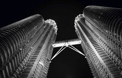 Twin Towers at Kuala Lumpur. Nightview of Twin Towers at Kuala Lumpur, Malaysia Royalty Free Stock Photo